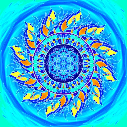 Mandala Jsi součástí vesmíru