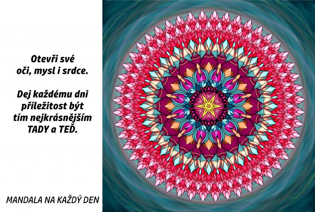 Mandala Otevři své oči, mysl i srdce