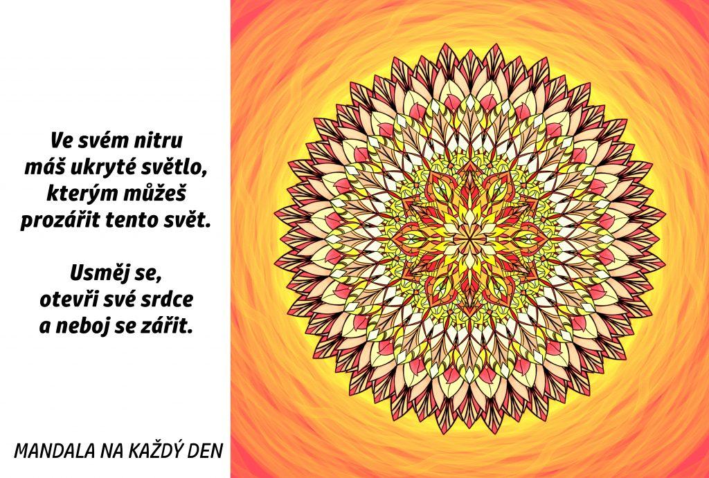 Mandala Otevři své srdce a neboj se zářit