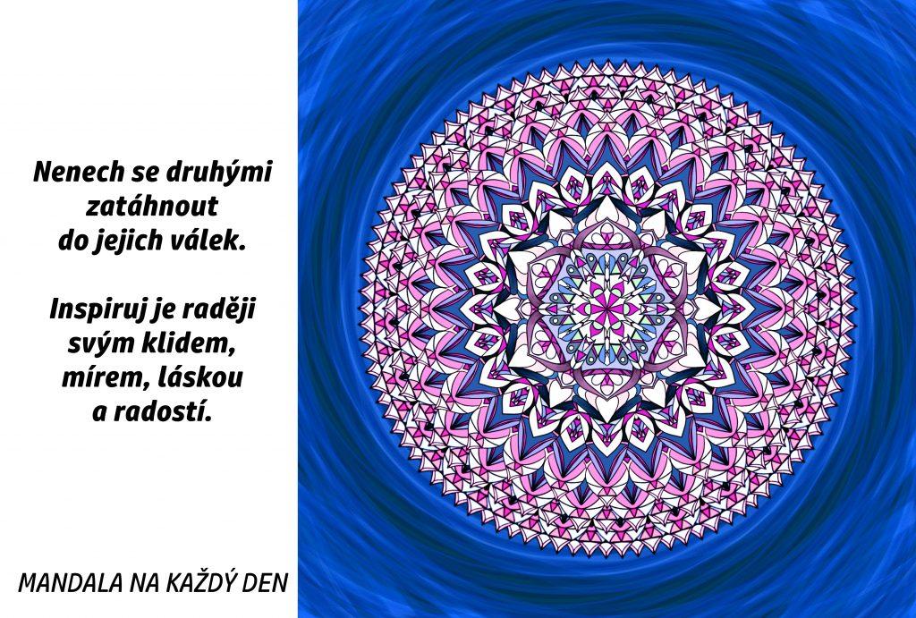 Mandala Inspiruj klidem, mírem, láskou a radostí