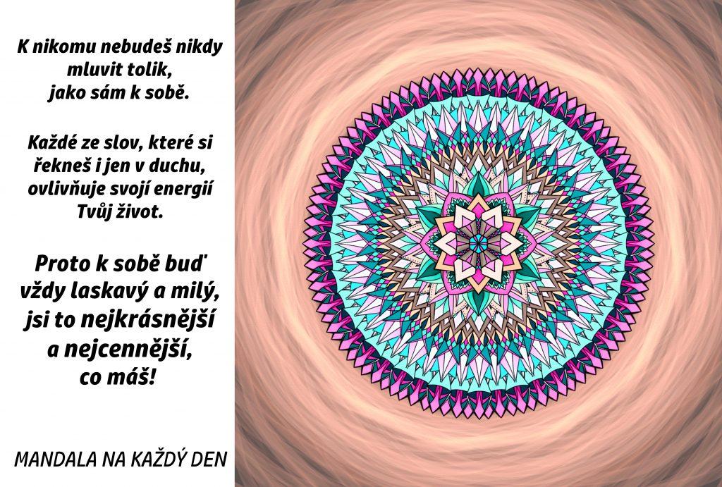 Mandala Buď k sobě laskavý a milý