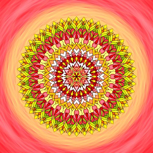 Mandala Neboj se zářit láskou