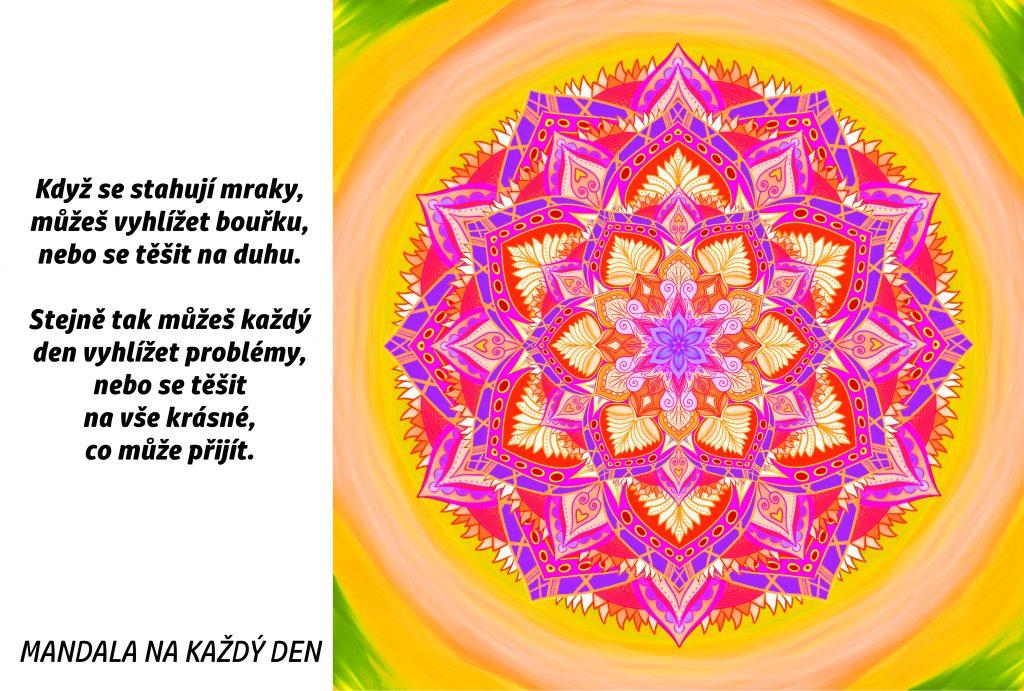 Mandala Vyhlížej duhu