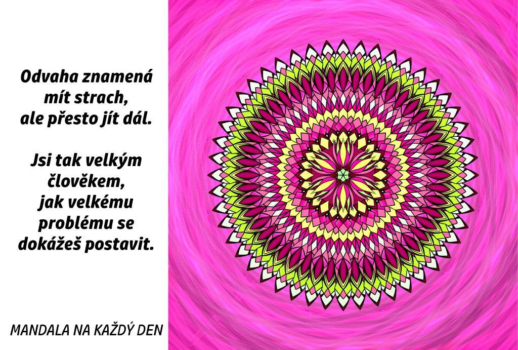 Mandala Buď odvážný člověk