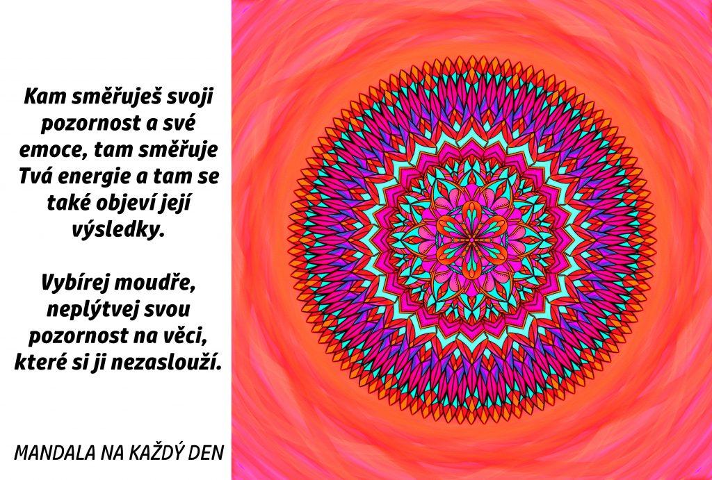 Mandala Vybírej moudře, kam směřuješ svoji pozornost
