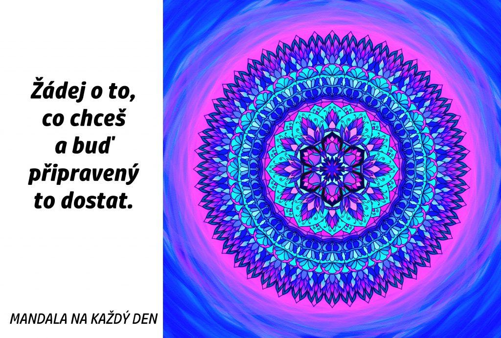 Mandala Žádej a buď připravený