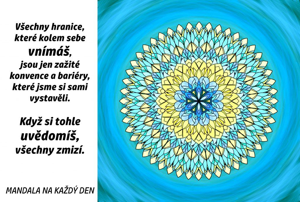 Mandala Nech zmizet všechny bariéry