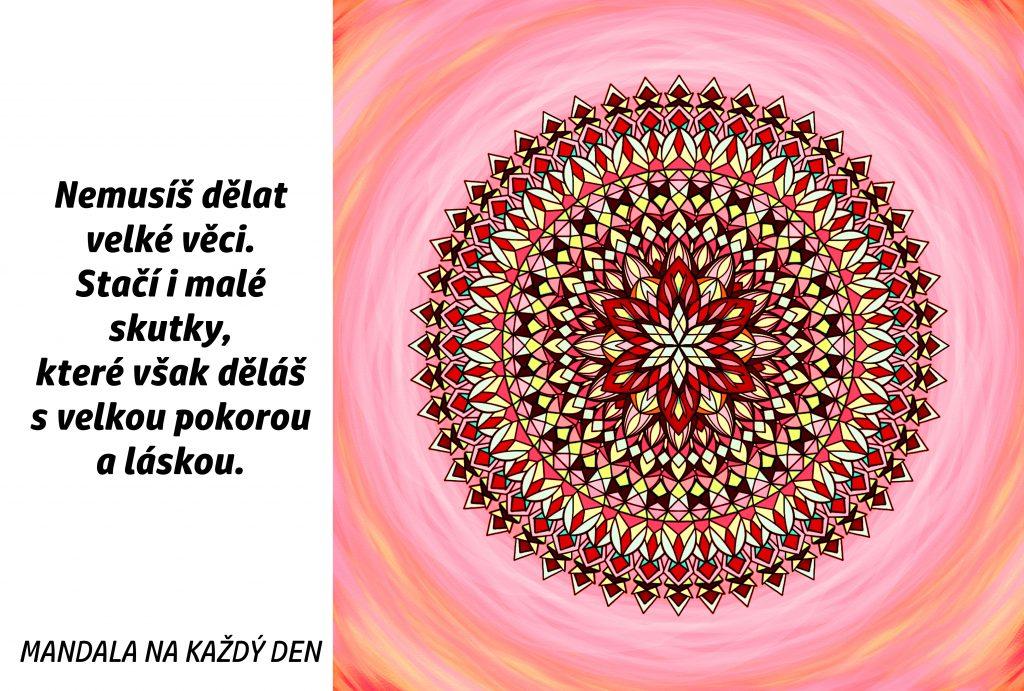 Mandala Dělej vše s velkou pokorou láskou
