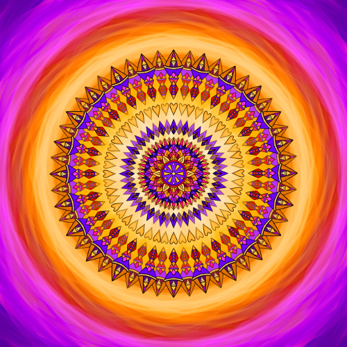 Mandala Den s úsměvem na tváři