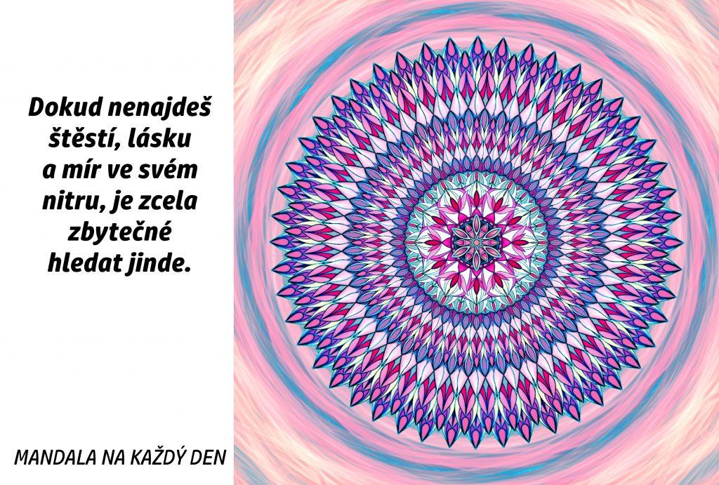 Mandala Niterní štěstí, láska a mír