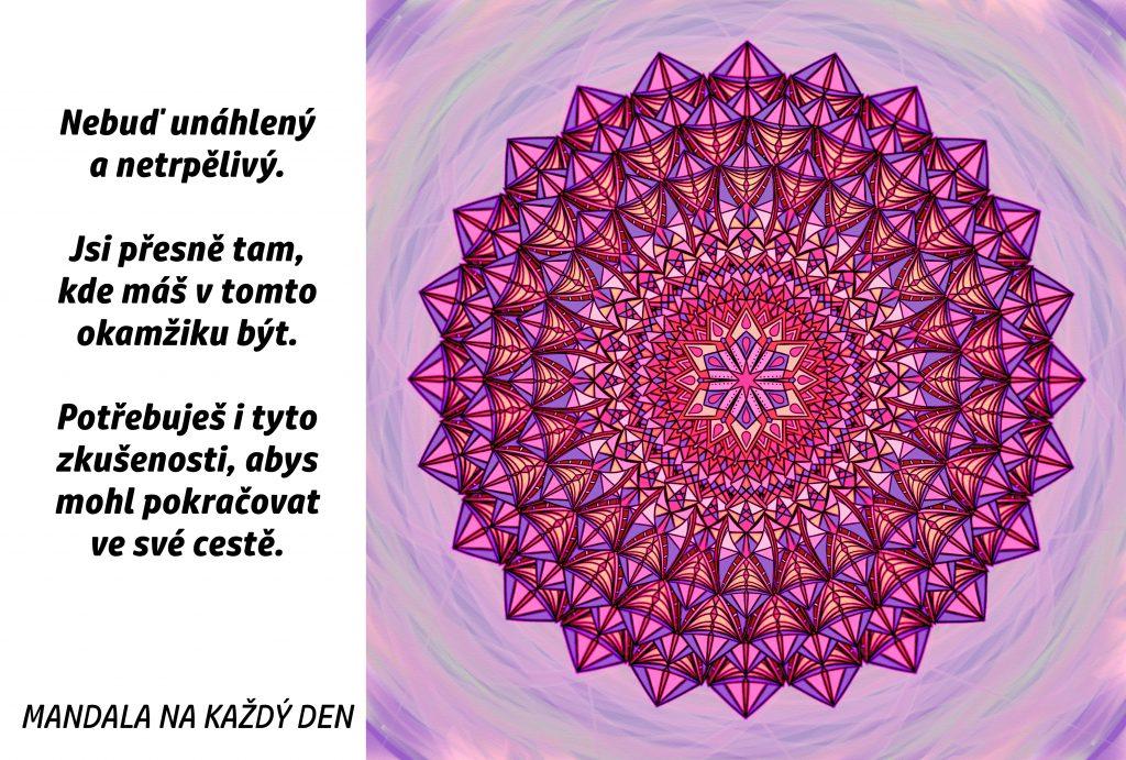 Mandala Nebuď netrpělivý