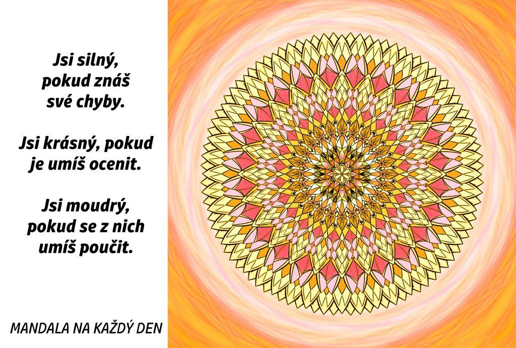 Mandala Buď silný, krásný a moudrý