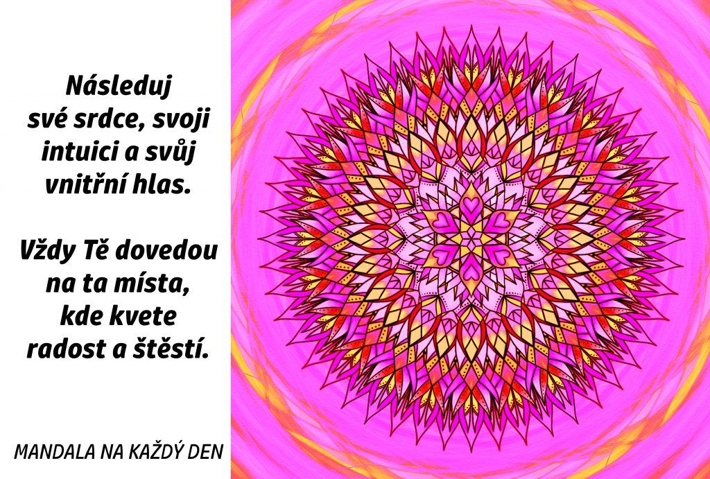 Mandala Kde kvete radost a štěstí