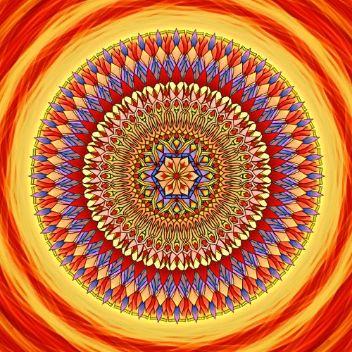 Mandala Víra, naděje a láska