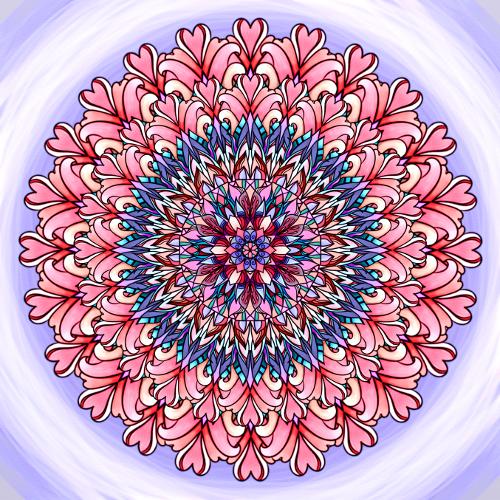 Mandala Trnité cesty ke štěstí
