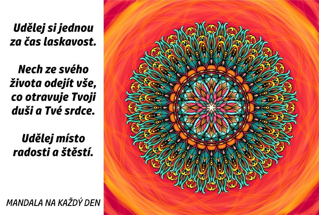 Mandala Udělej místo radosti a štěstí