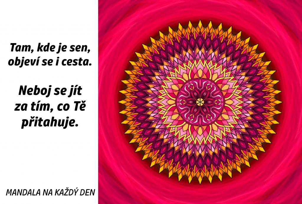 Mandala Neboj se jít za svým snem