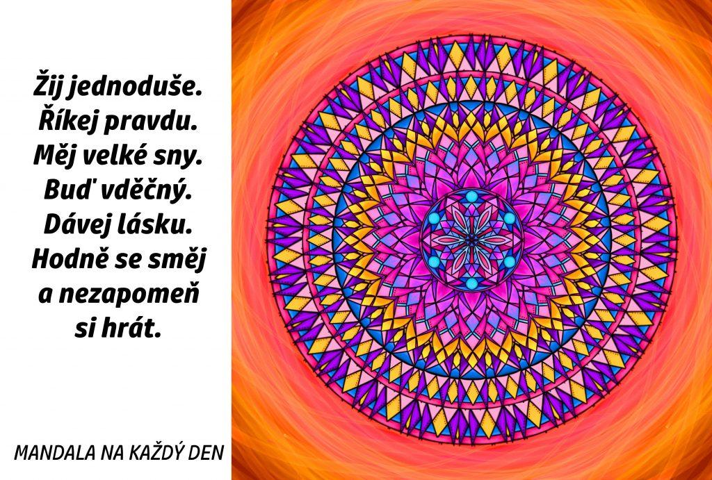 Mandala Buď šťastný