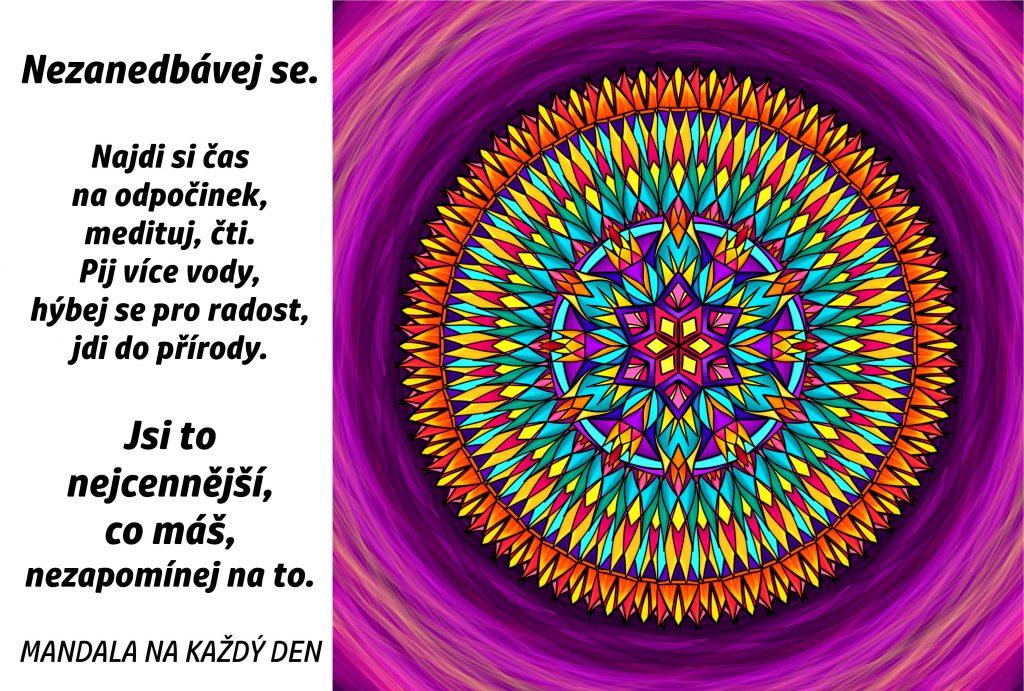 Mandala Najdi si čas sám pro sebe
