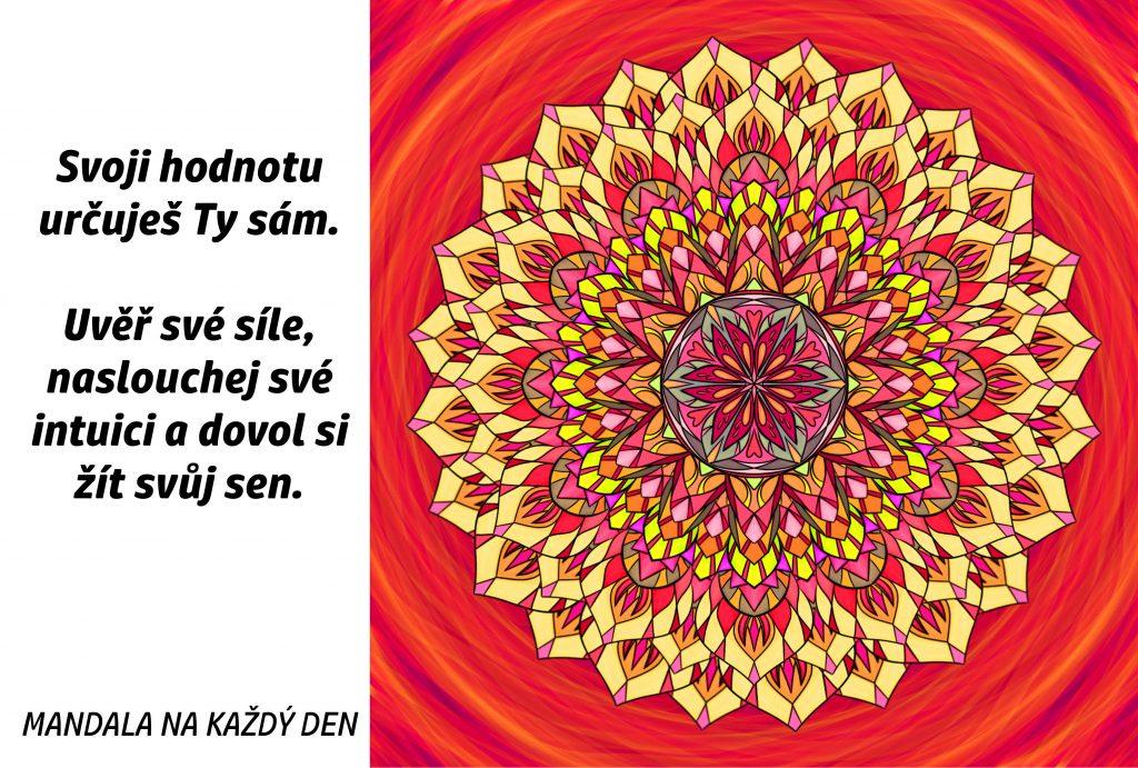 Mandala Uvěř své síle a žij svůj sen