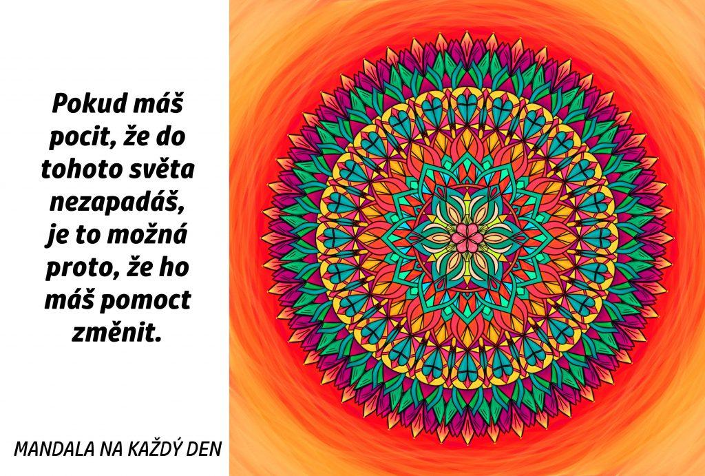 Mandala Změň svůj svět