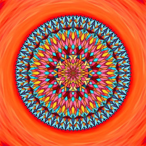 Mandala Nepřestávej snít, milovat a věřit