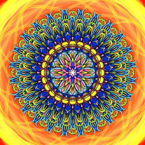 Mandala Pozitivní myšlenky přináší pozitivní život