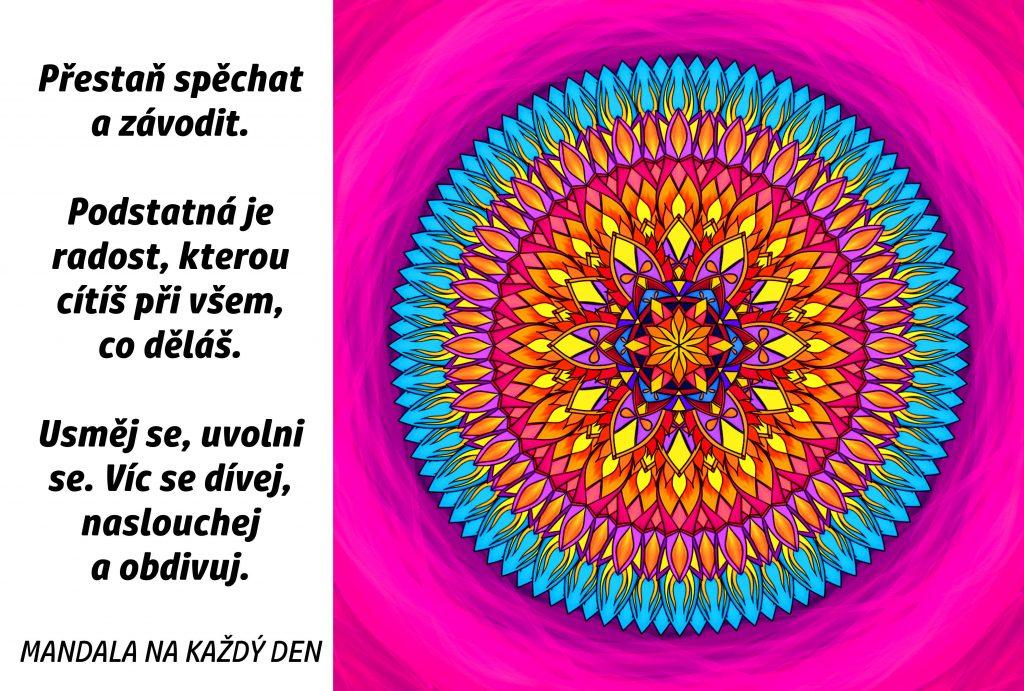 Mandala Dívej se, naslouchej a obdivuj