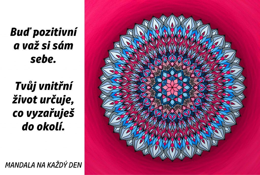 Mandala Buď pozitivní a važ si sám sebe
