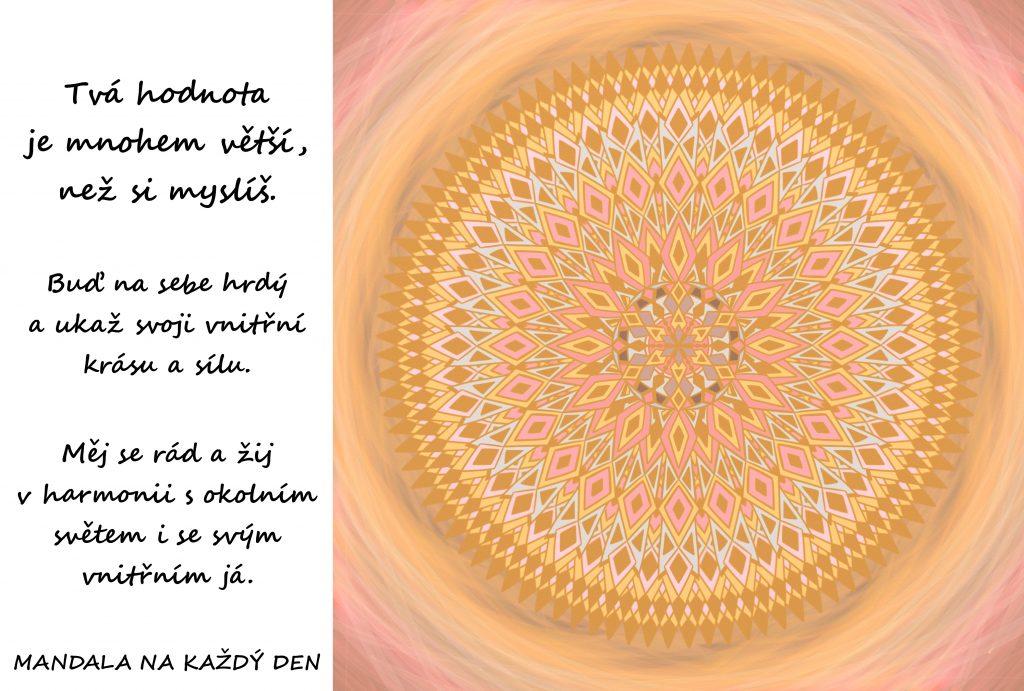Mandala Žij v harmonii