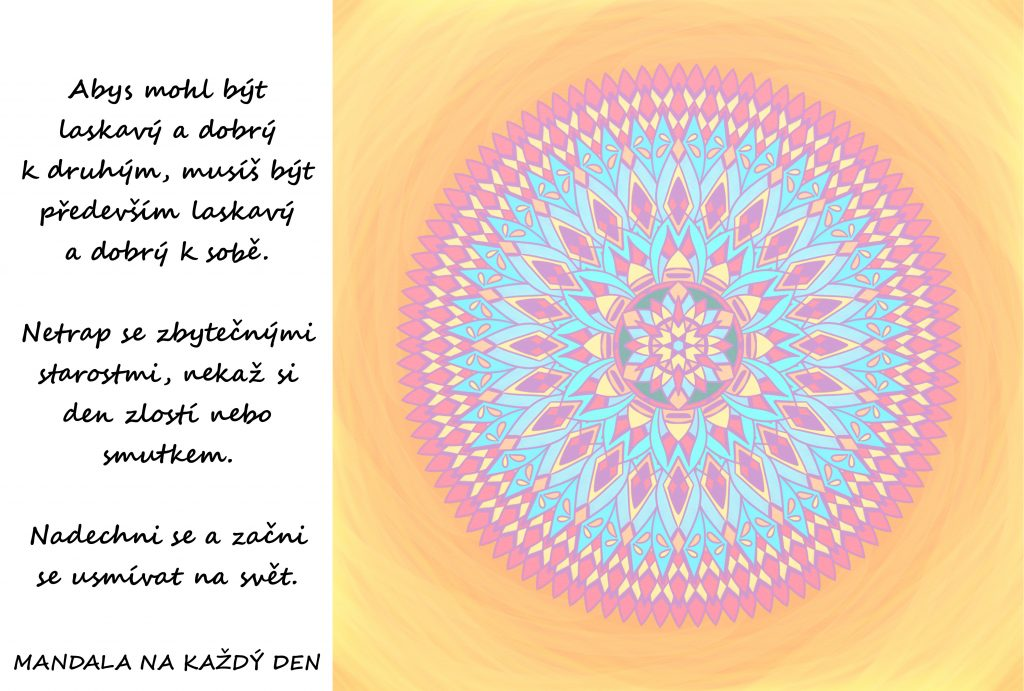 Mandala Buď laskavý a dobrý