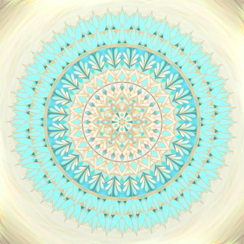 Mandala Slunce přináší naději