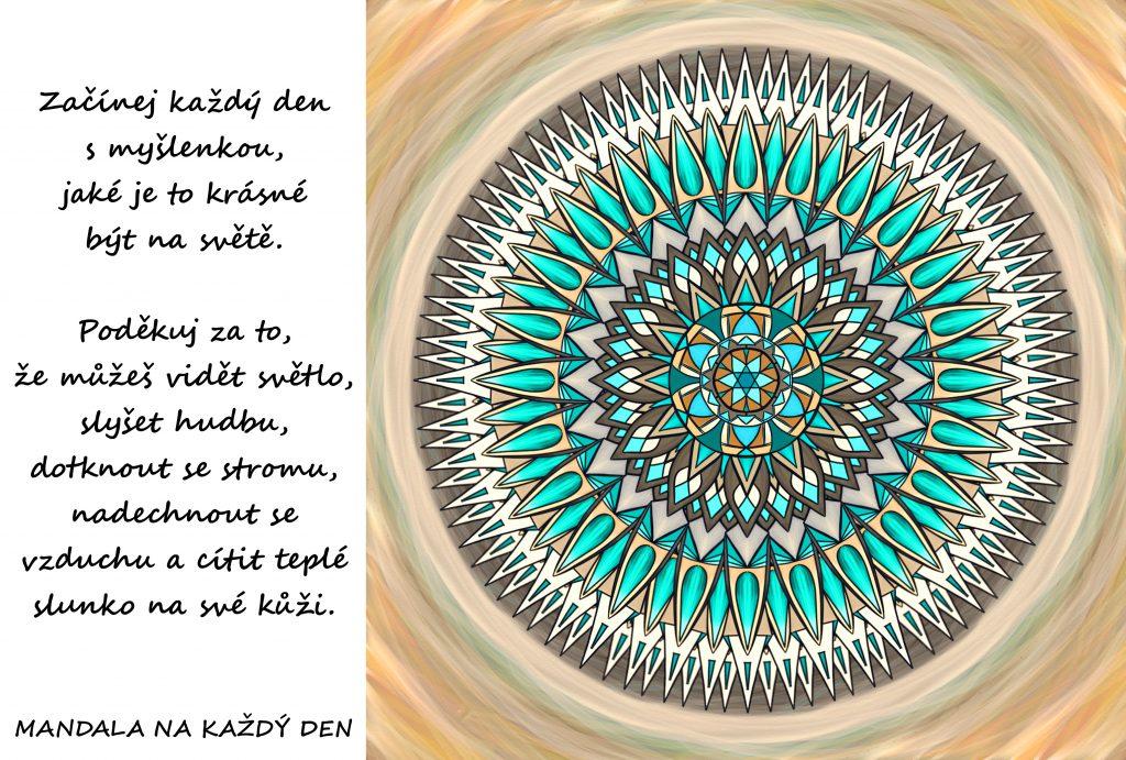 Mandala Začínej den s vděčností