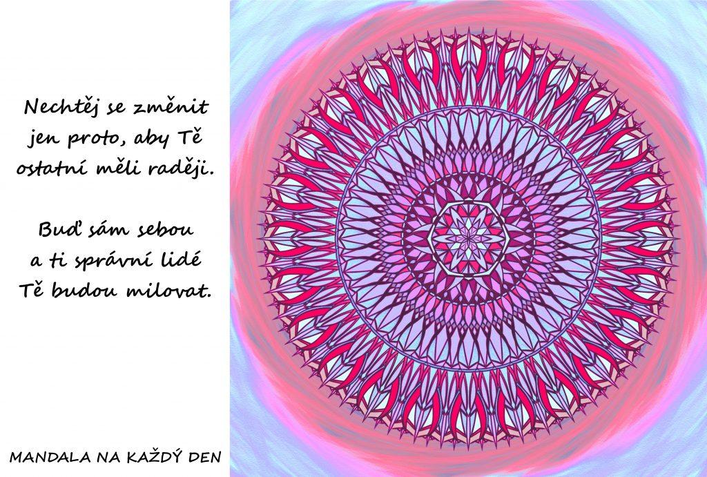 Mandala Buď sám sebou