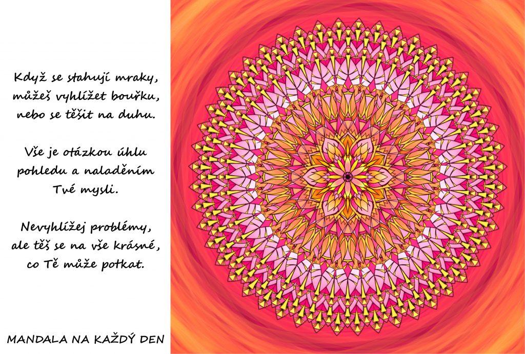 Mandala Nalaď si mysl pozitivně