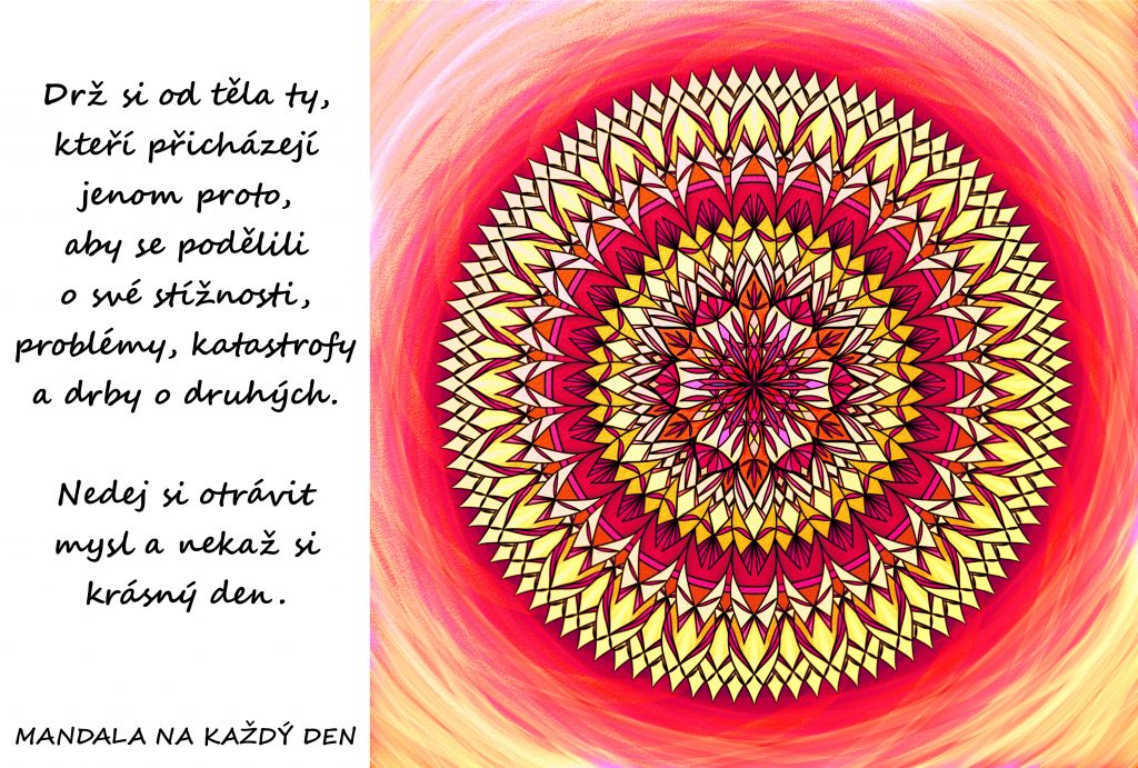 Mandala Nedej si otrávit mysl