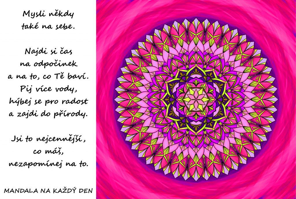 Mandala Mysli také na sebe