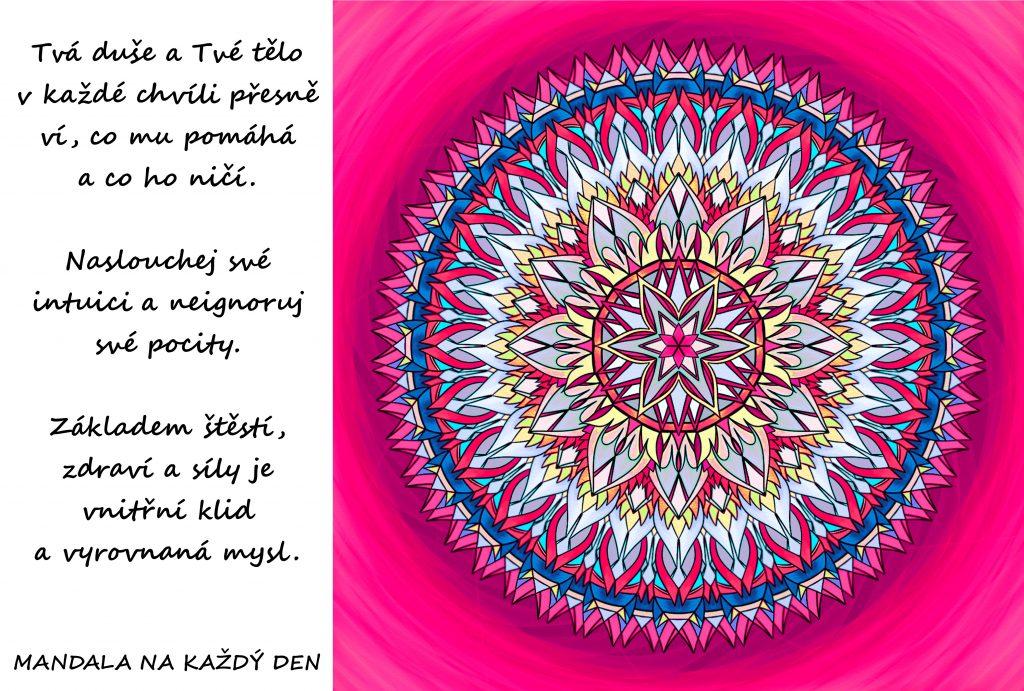 Mandala Duše, tělo, intuice, pocity