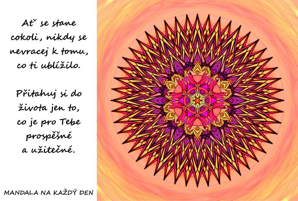 Mandala Přitahuj si do života to pozitivní