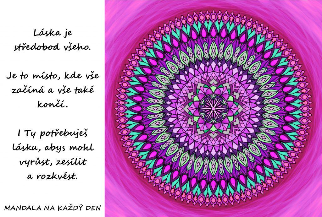 Mandala Láska je středobod všeho