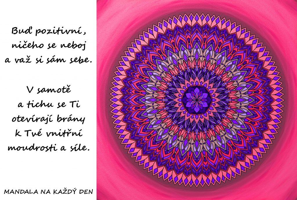 Mandala Buď pozitivní a ničeho se neboj