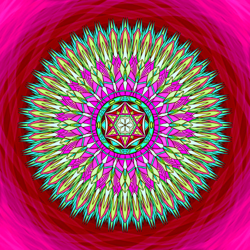 Mandala Neboj se chyb