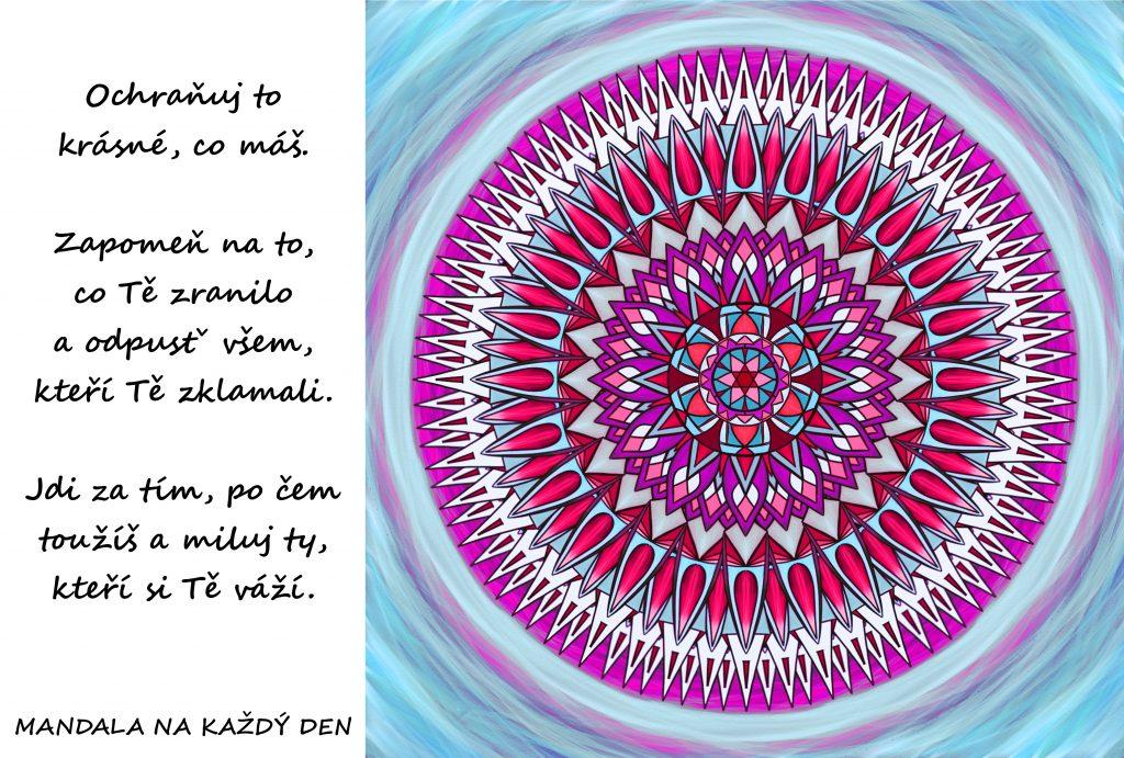 Mandala Ochraňuj, odpusť a miluj