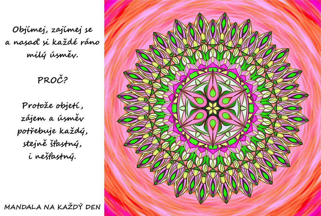 Mandala Objetí, zájem a úsměv