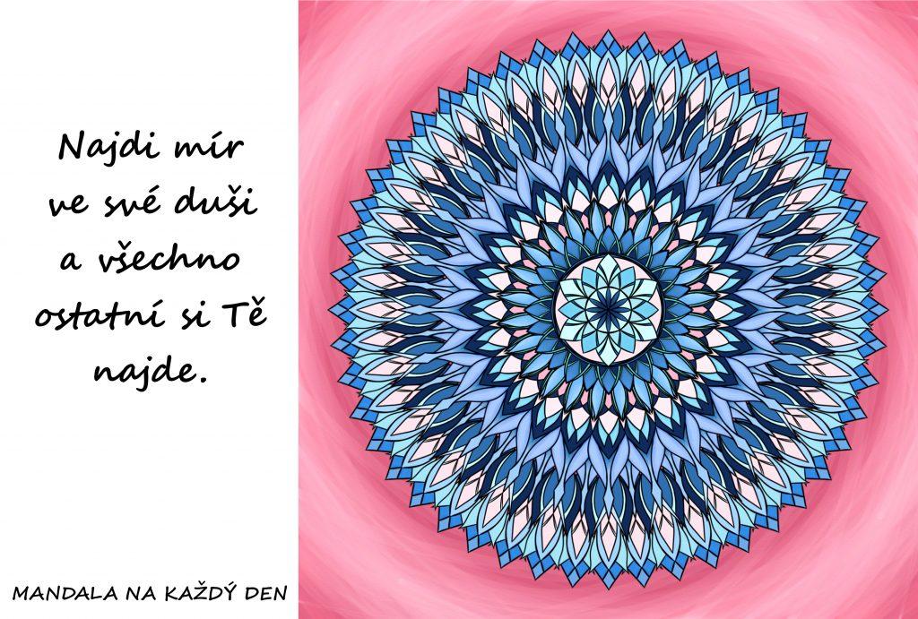 Mandala Najdi mír ve své duši