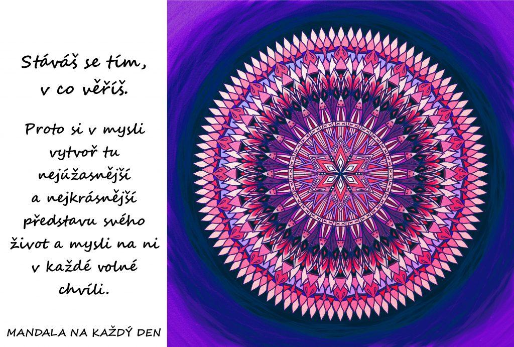 Mandala Myšlenkou tvoříš svůj svět