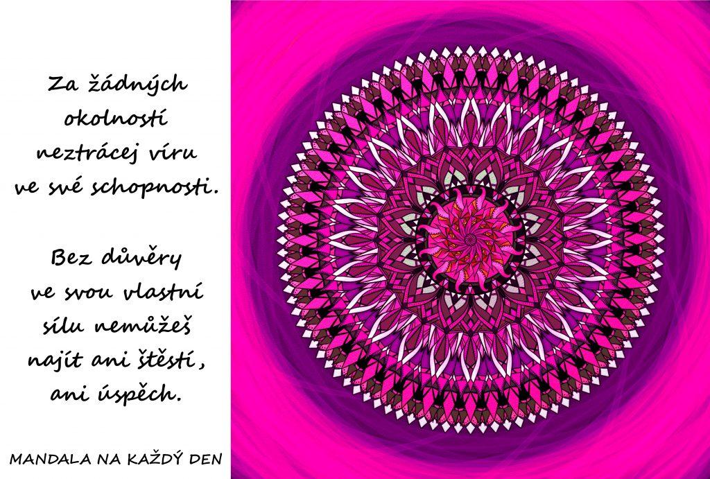 Mandala Neztrácej víru ve své síly