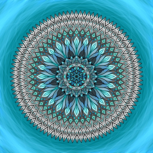 Mandala Nesnaž se udržet vše při starém