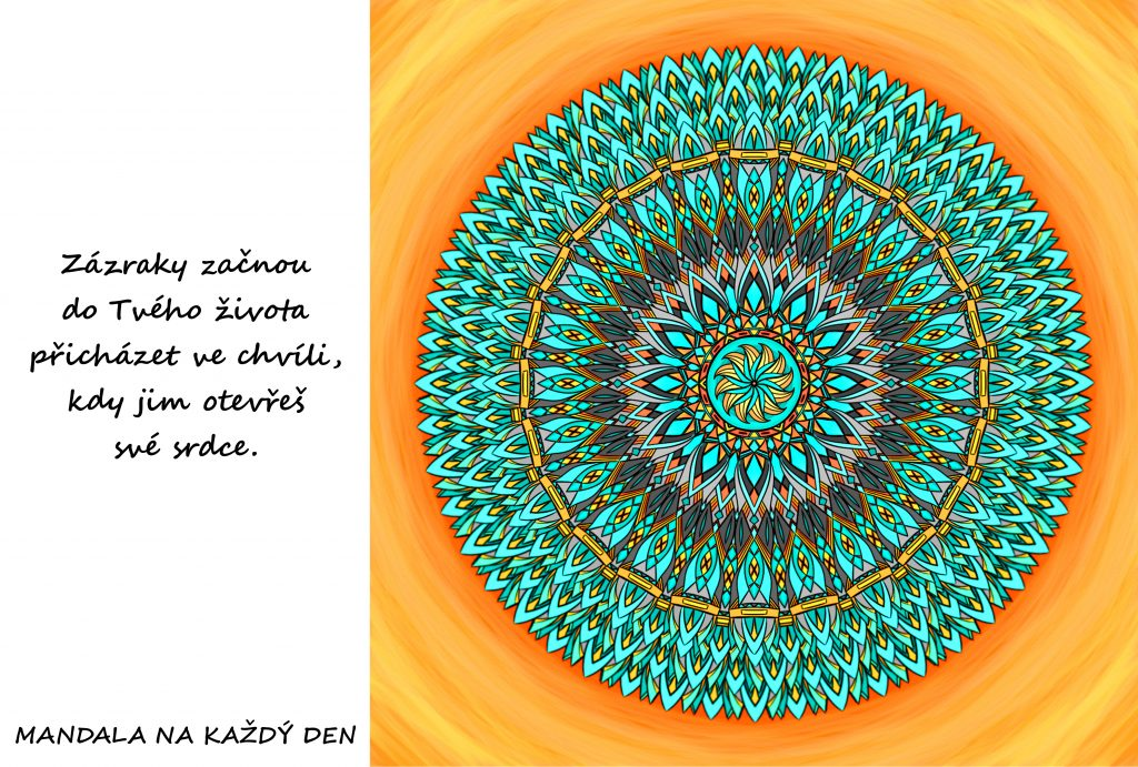 Mandala Otevři své srdce