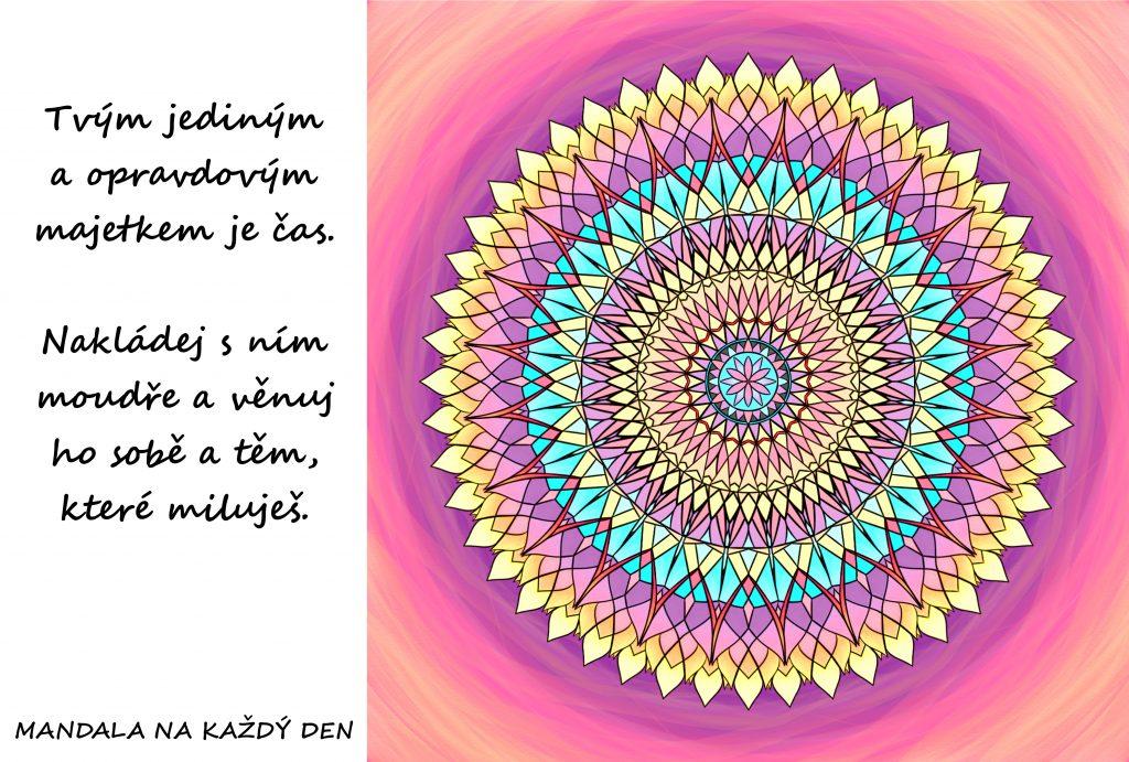 Mandala Tvým jediným majetkem je čas